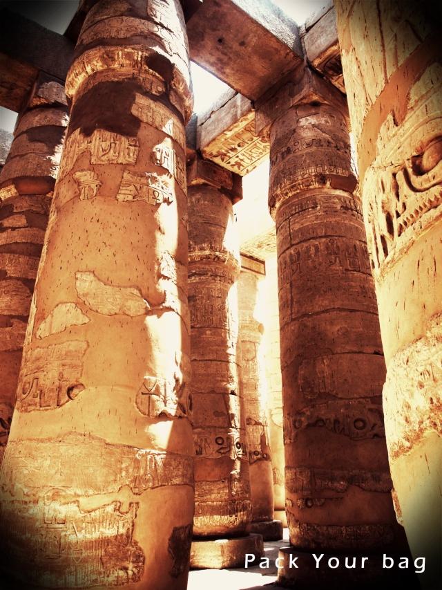 Columns in Karnak Temples