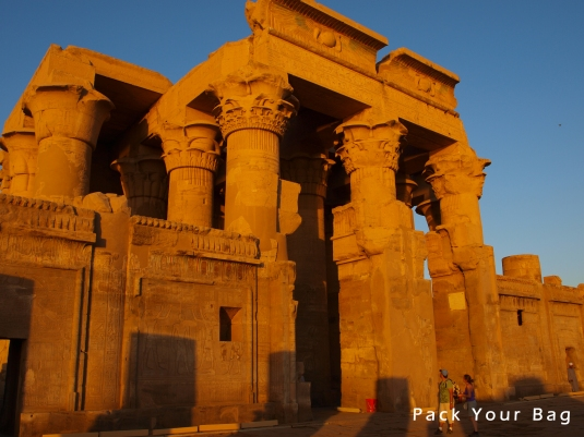 Kom Ombo Temple during the sunset