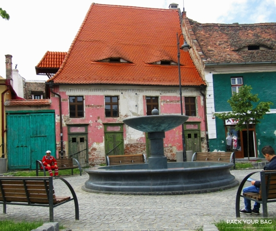 Local houses in Sibiu