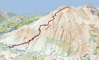 Ben Nevis Map- provided by canvis.com